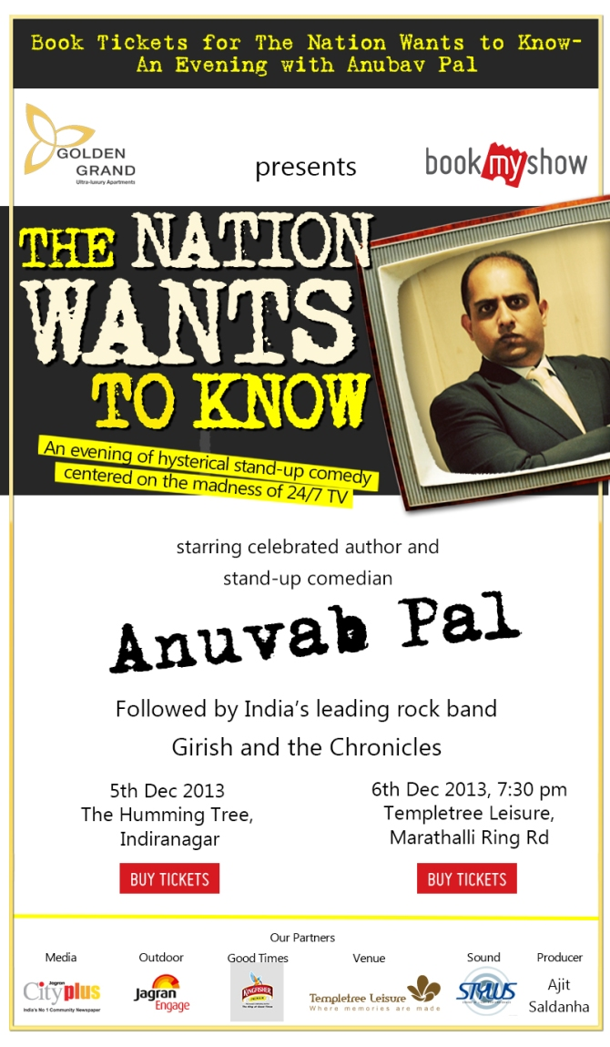 THE NATION GOES TO...BANGALORE - 5th and 6th December